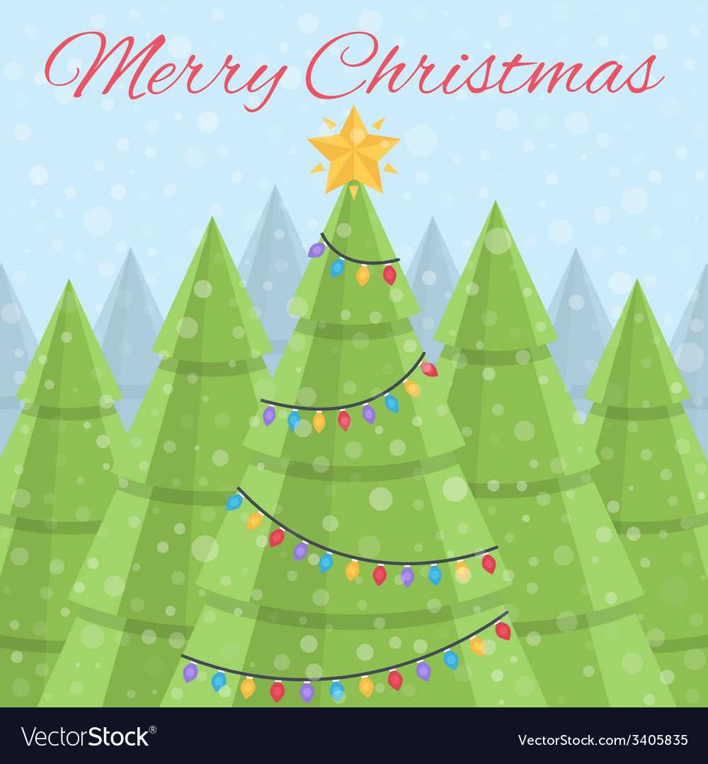 Merry christmas  christmas card daytime christmas vector | Price: 1 Credit (USD $1)