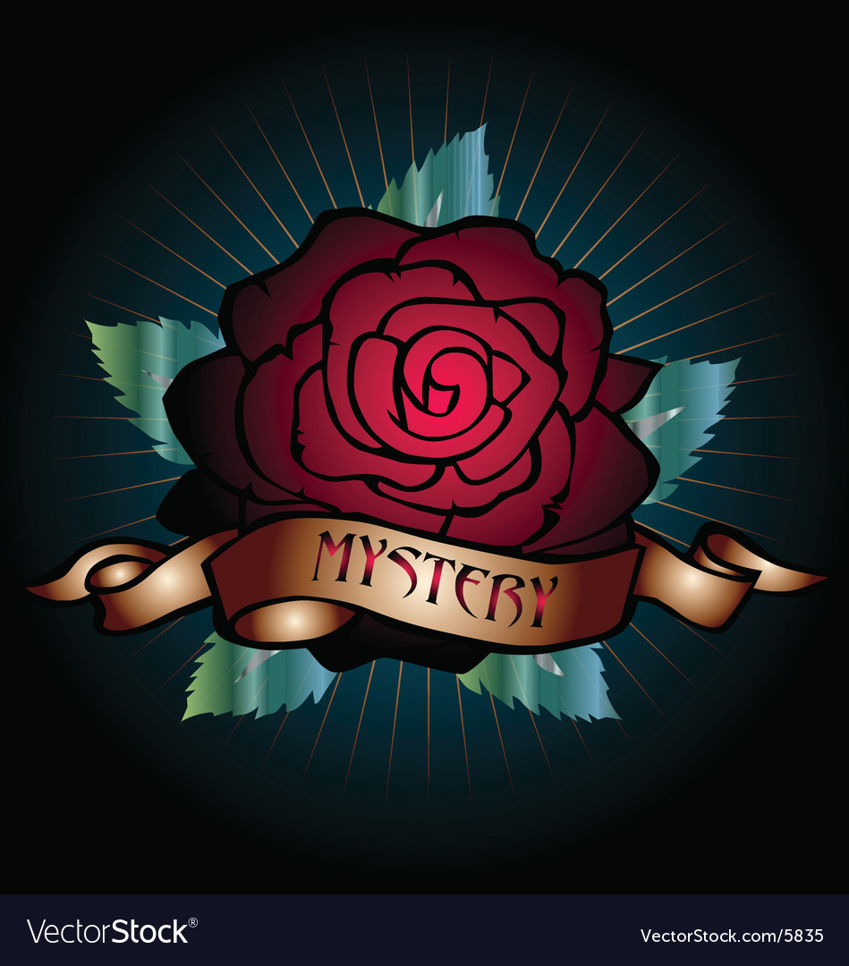 Mystery rose vector | Price: 1 Credit (USD $1)