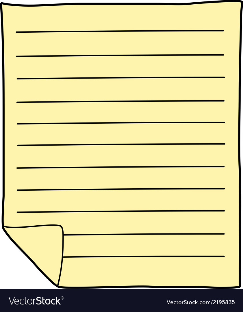 Notebook paper drawing vector   Price: 1 Credit (USD $1)