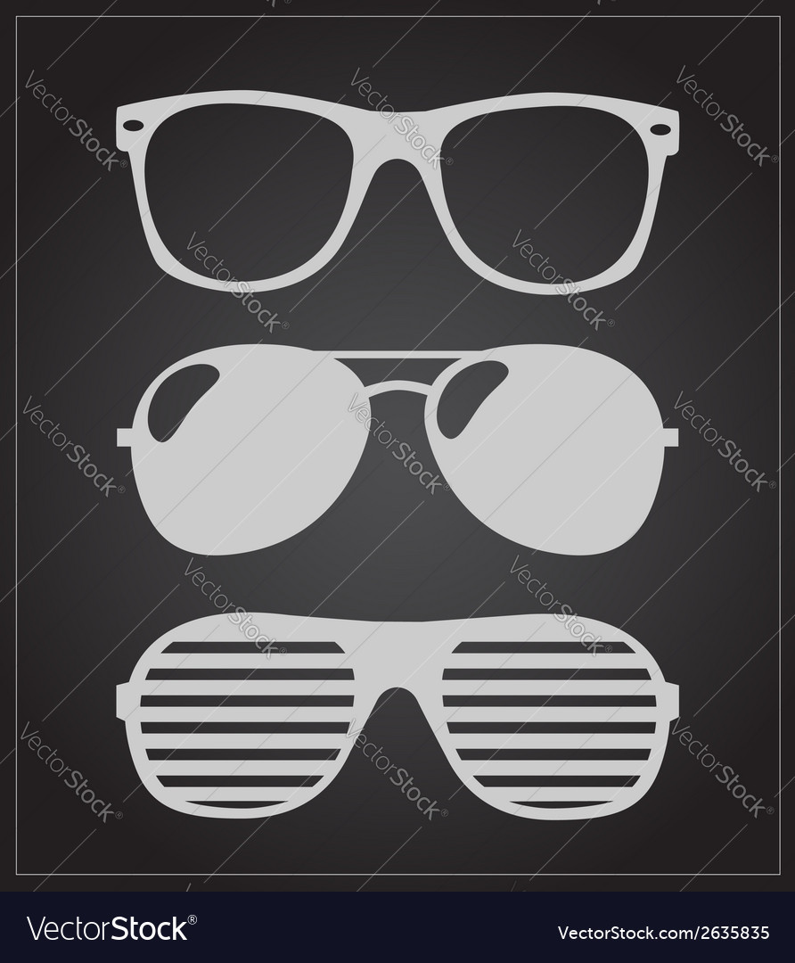 Set of sunglasses background vector | Price: 1 Credit (USD $1)
