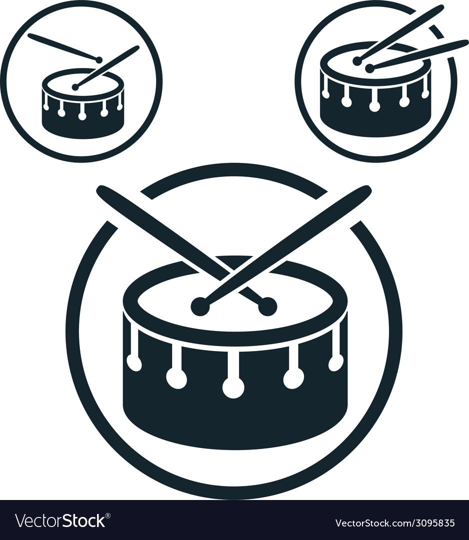 Snare drum icon single color music theme symbol vector | Price: 1 Credit (USD $1)