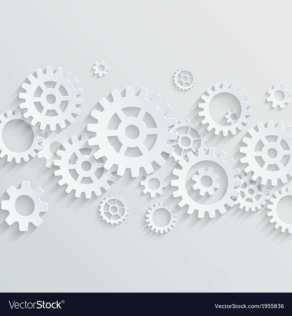3d gears and cogs background vector | Price: 1 Credit (USD $1)