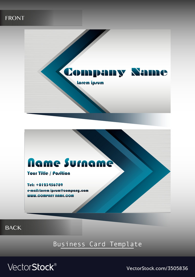 A company calling card vector | Price: 1 Credit (USD $1)