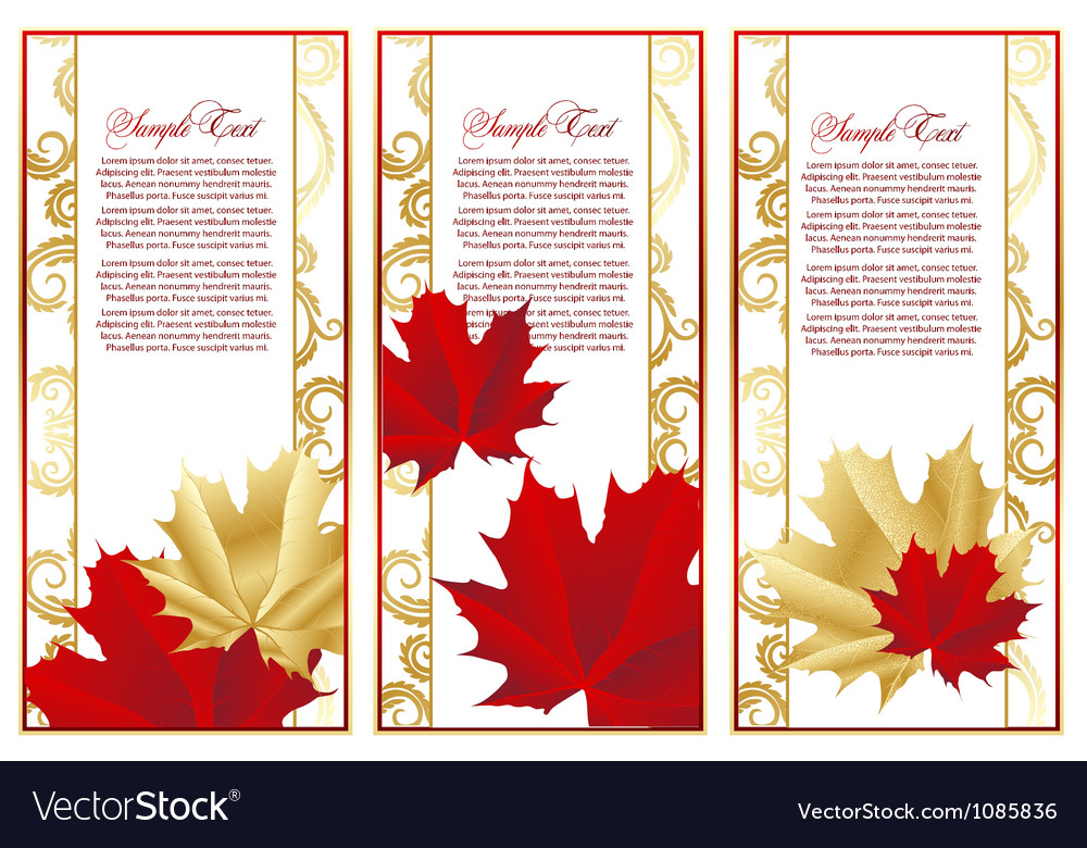 Abstract set frame with leaves vector | Price: 1 Credit (USD $1)