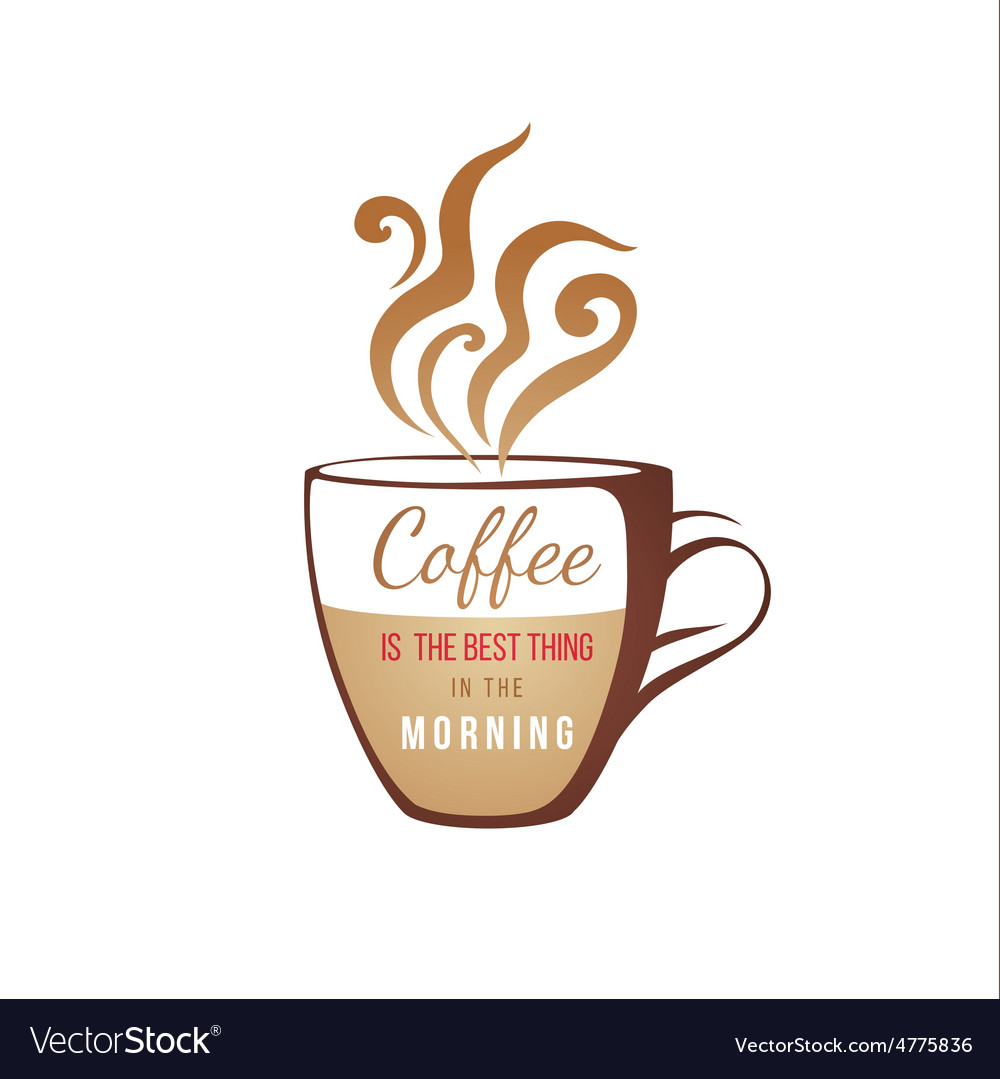 Coffe cup with type design vector | Price: 1 Credit (USD $1)
