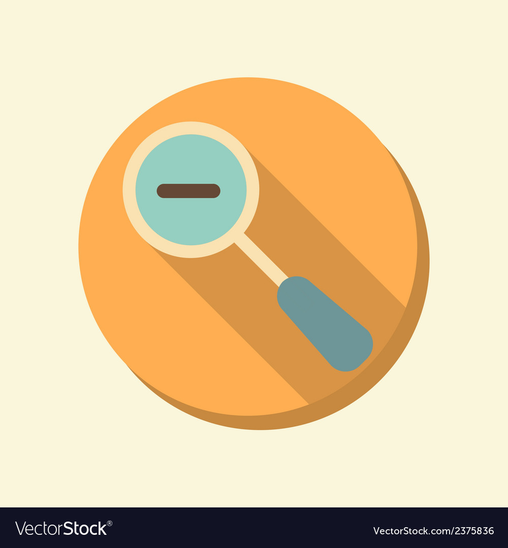 Flat circle web icon magnifier reduction vector | Price: 1 Credit (USD $1)