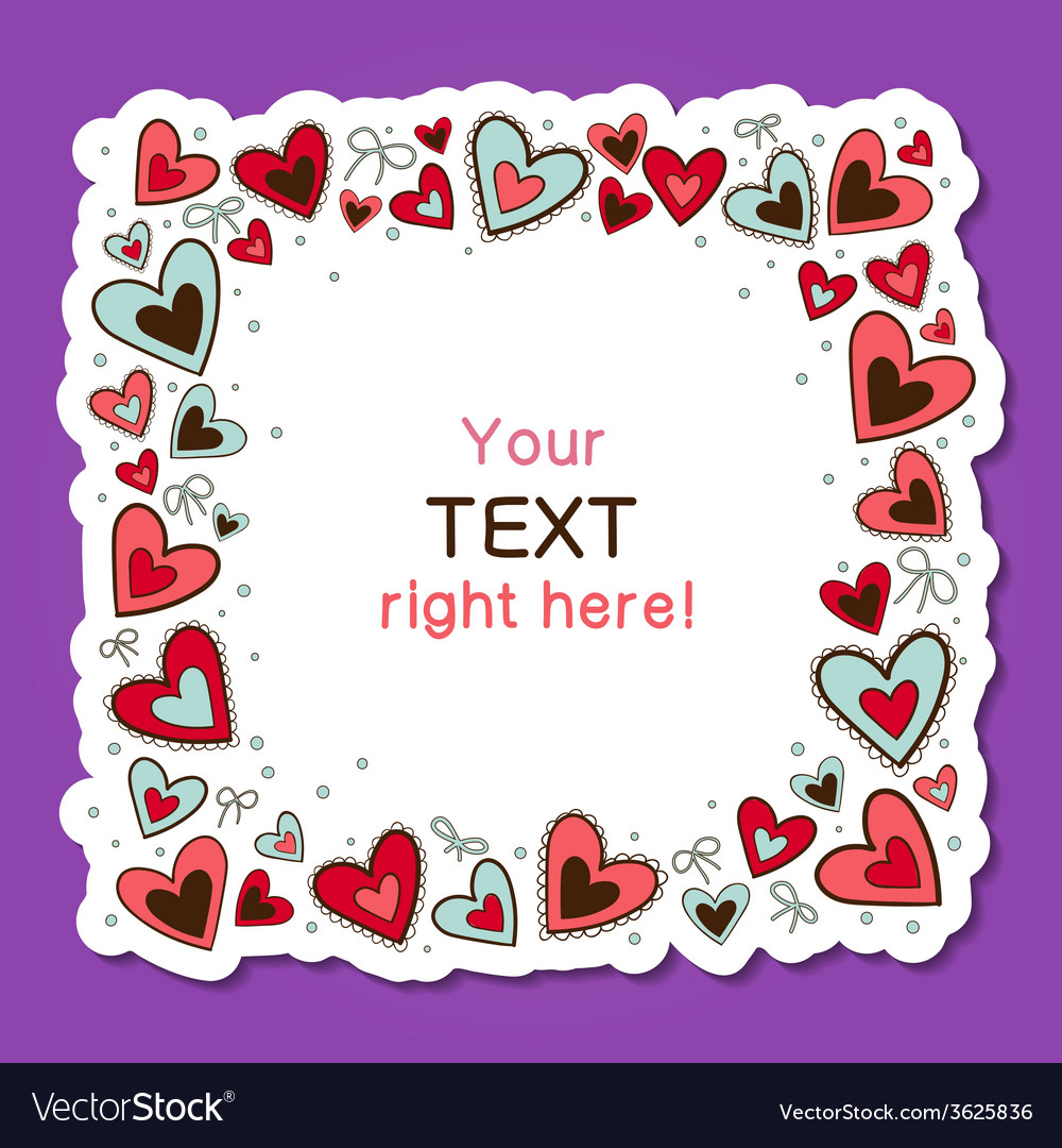 Hearts frame vector | Price: 1 Credit (USD $1)