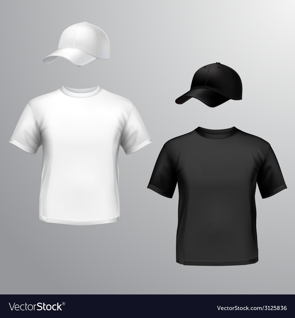 Mens t-shirt baseball cap vector | Price: 1 Credit (USD $1)