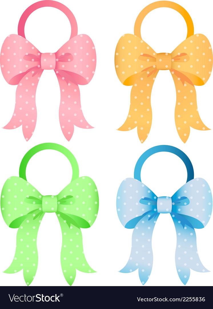 Polka dot bow set vector   Price: 1 Credit (USD $1)