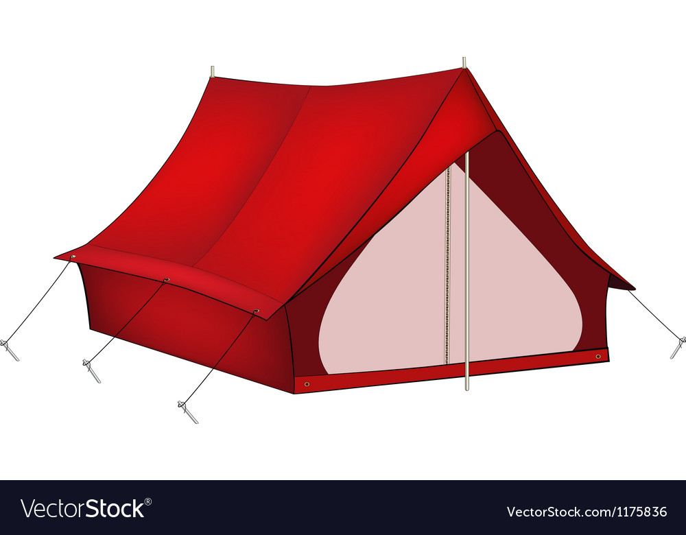 Red tent vector   Price: 3 Credit (USD $3)