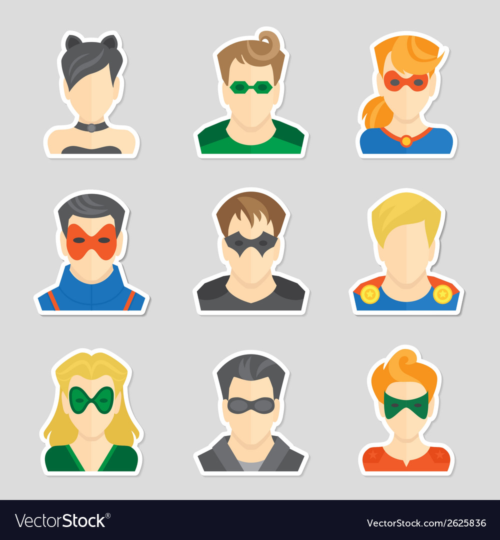 Set of avatar stickers vector | Price: 1 Credit (USD $1)