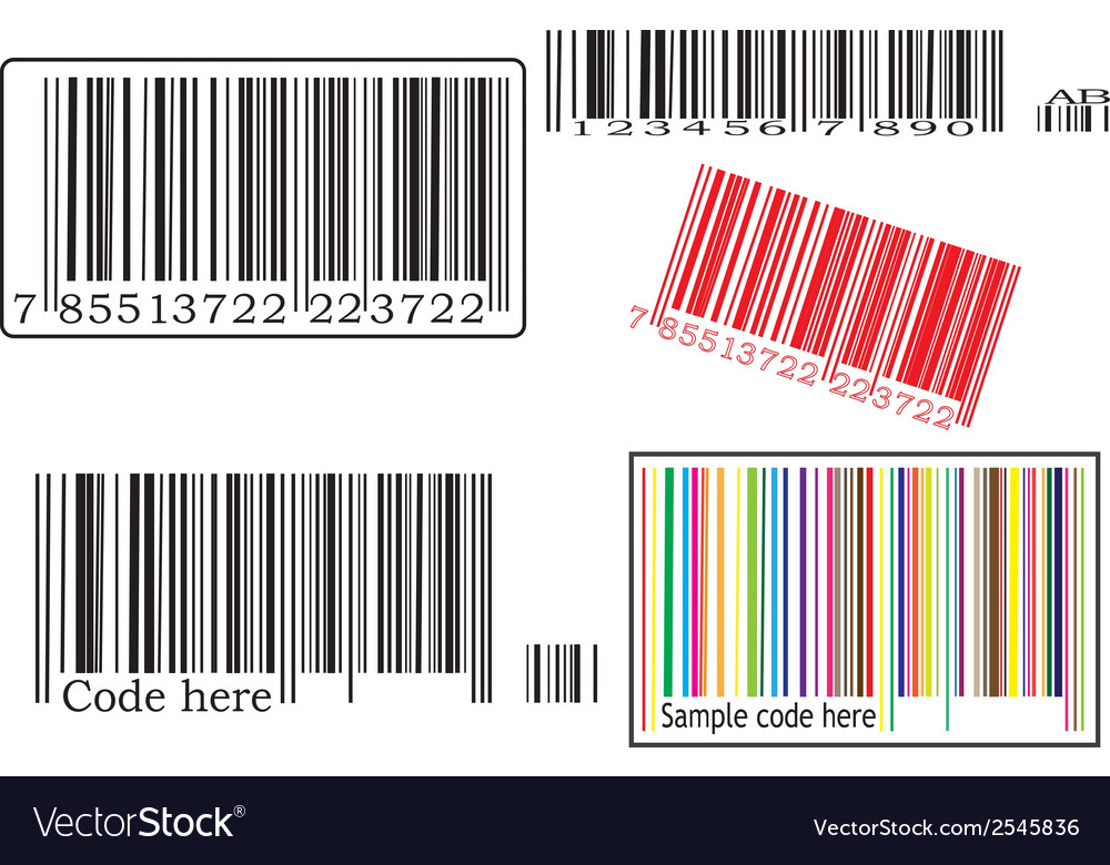 Set with barcodes vector | Price: 1 Credit (USD $1)