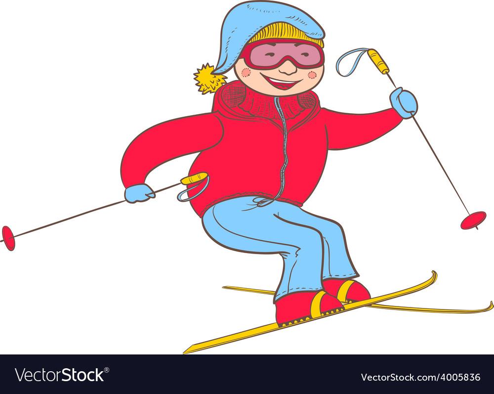 Skier vector | Price: 1 Credit (USD $1)