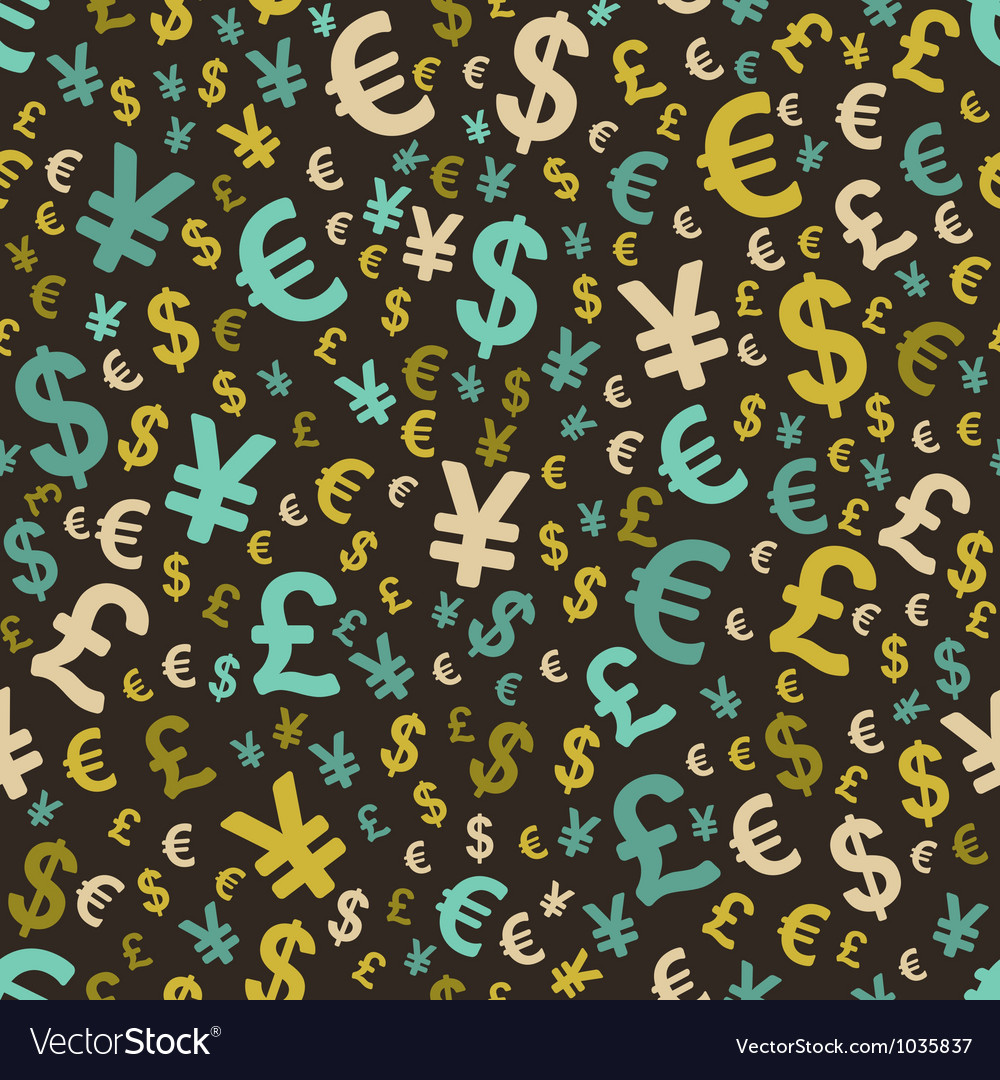 Abstract seamless pattern with money vector | Price: 1 Credit (USD $1)