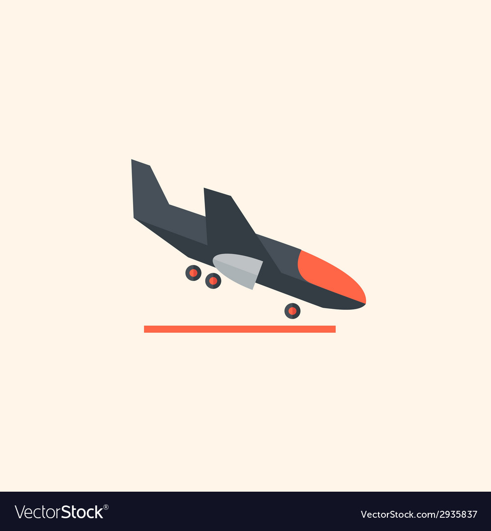 Airplane travel flat icon vector   Price: 1 Credit (USD $1)