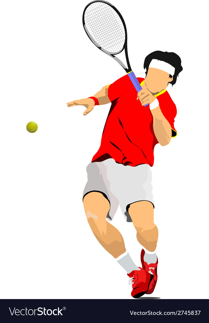 Al 0636 tennis player vector | Price: 1 Credit (USD $1)