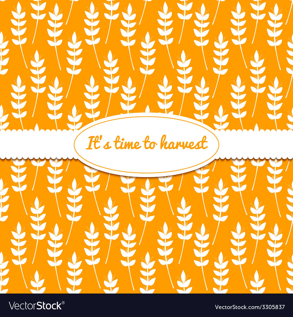 Background with ears of wheat vector | Price: 1 Credit (USD $1)