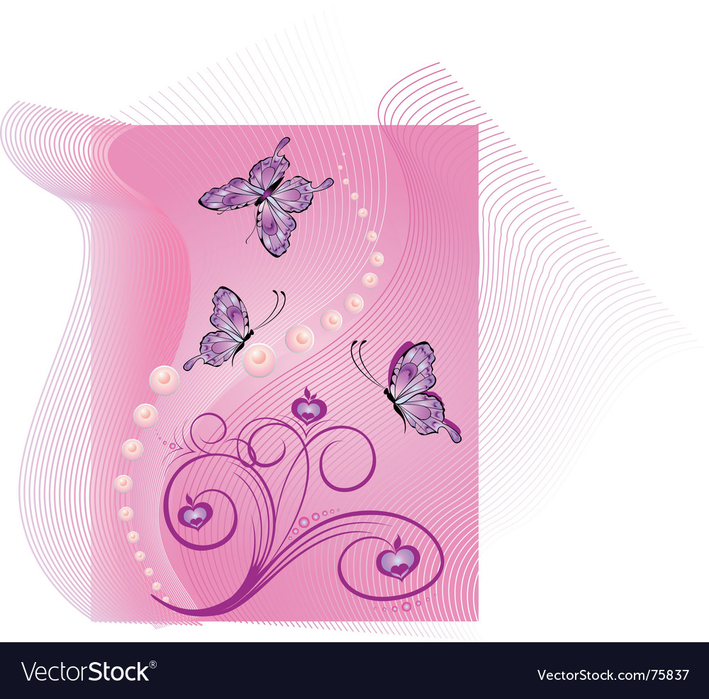 Butterfly background vector | Price:  Credit (USD $)