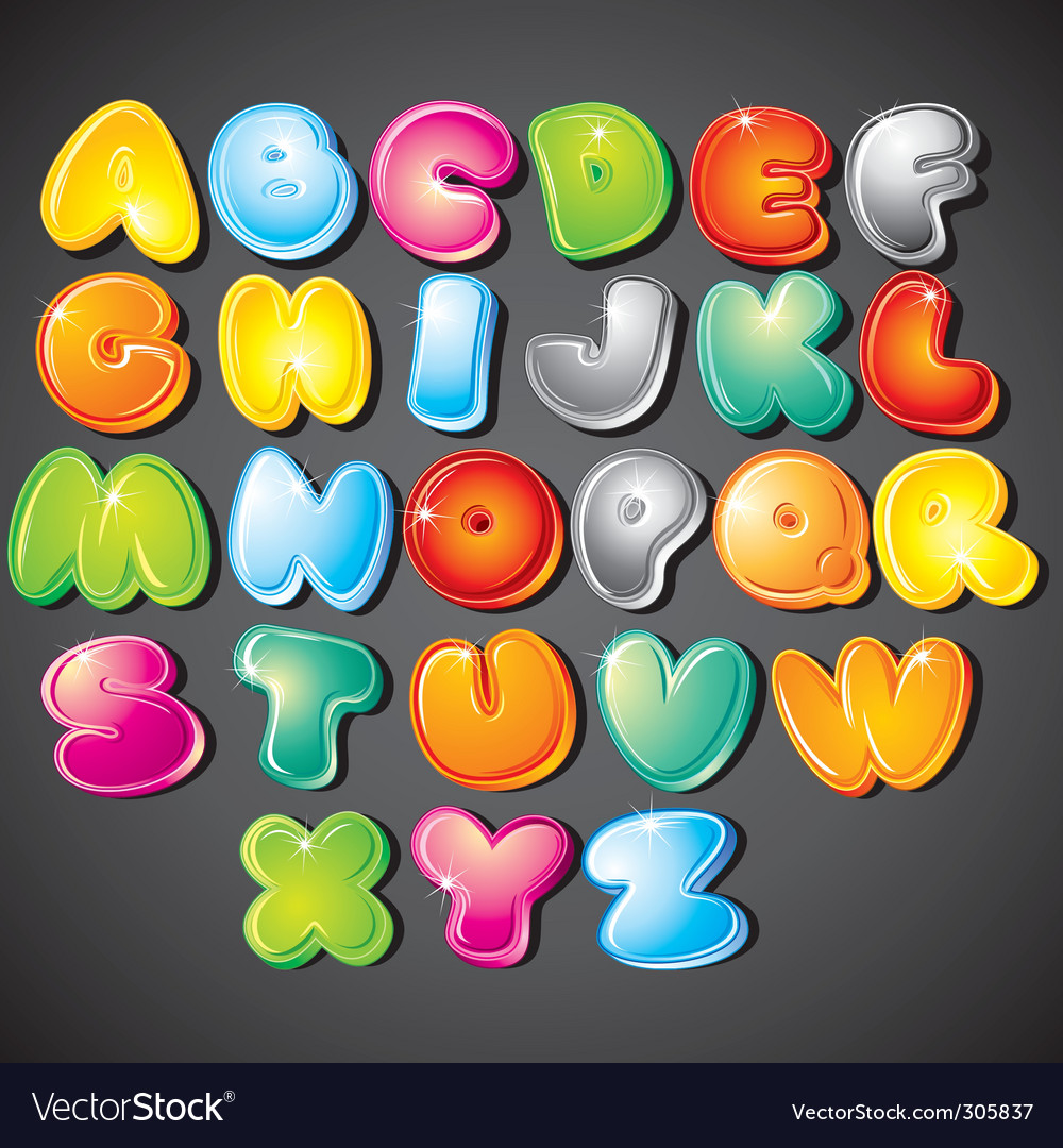 Cartoon alphabet vector | Price: 3 Credit (USD $3)