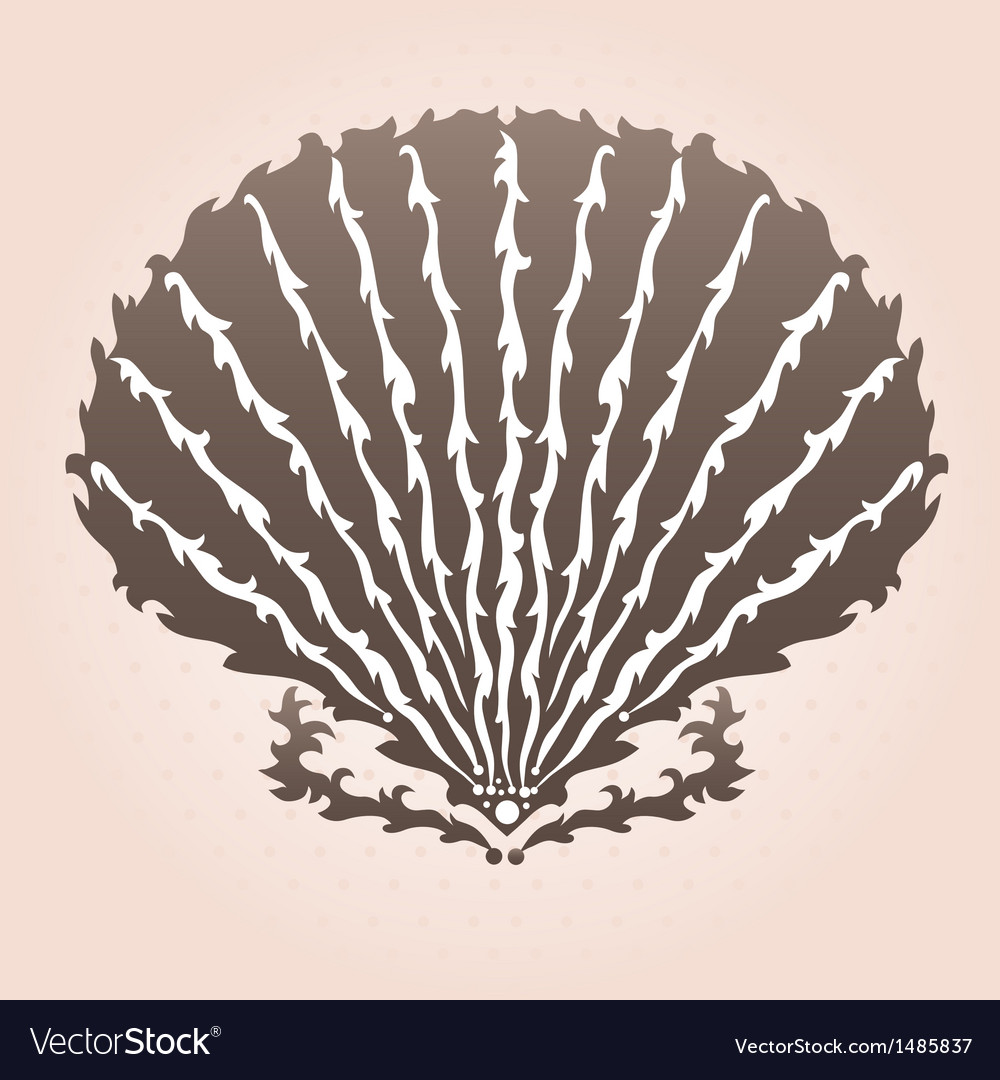 Decorative seashell vector | Price: 1 Credit (USD $1)