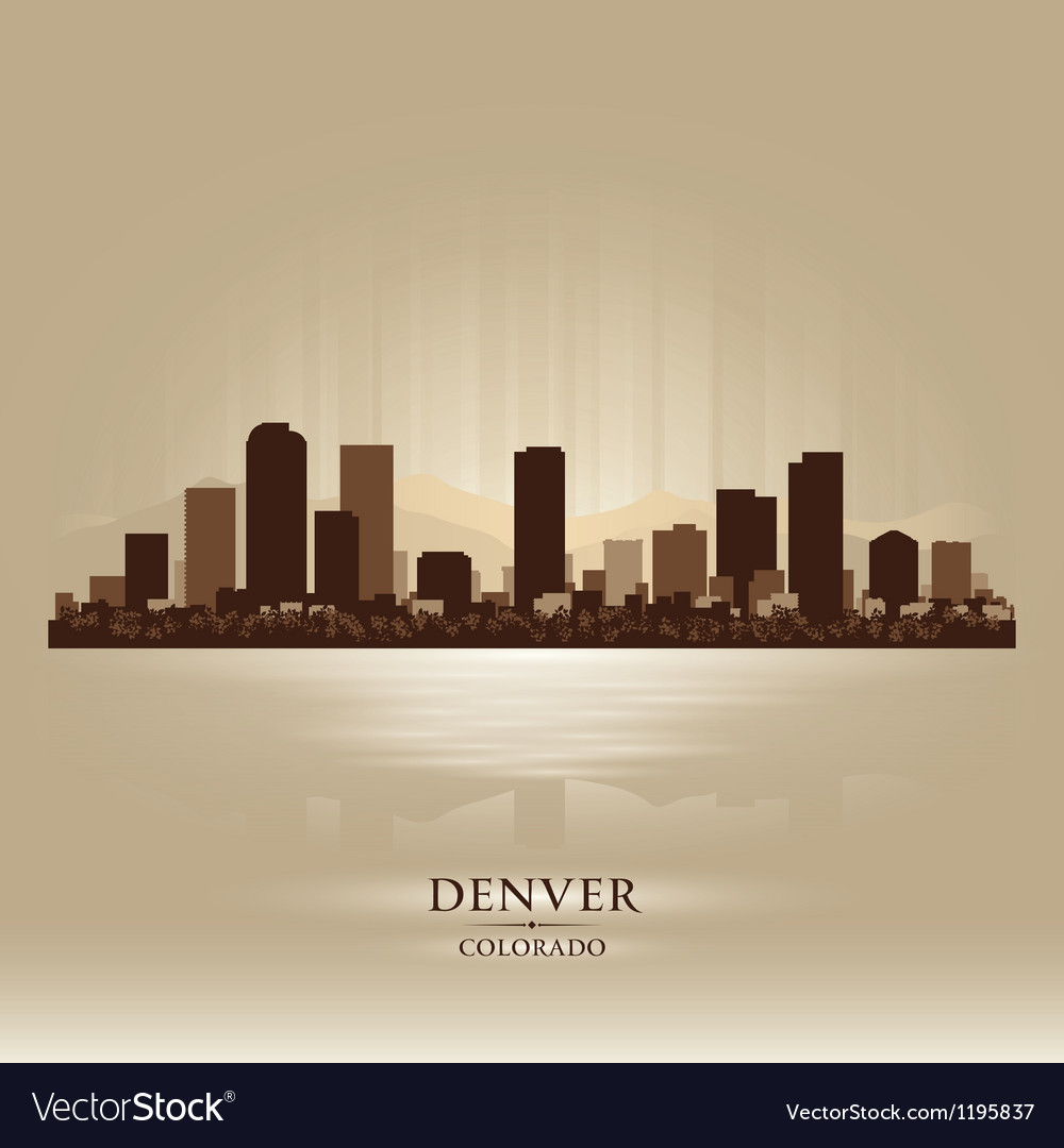 Denver colorado skyline city silhouette vector | Price: 1 Credit (USD $1)