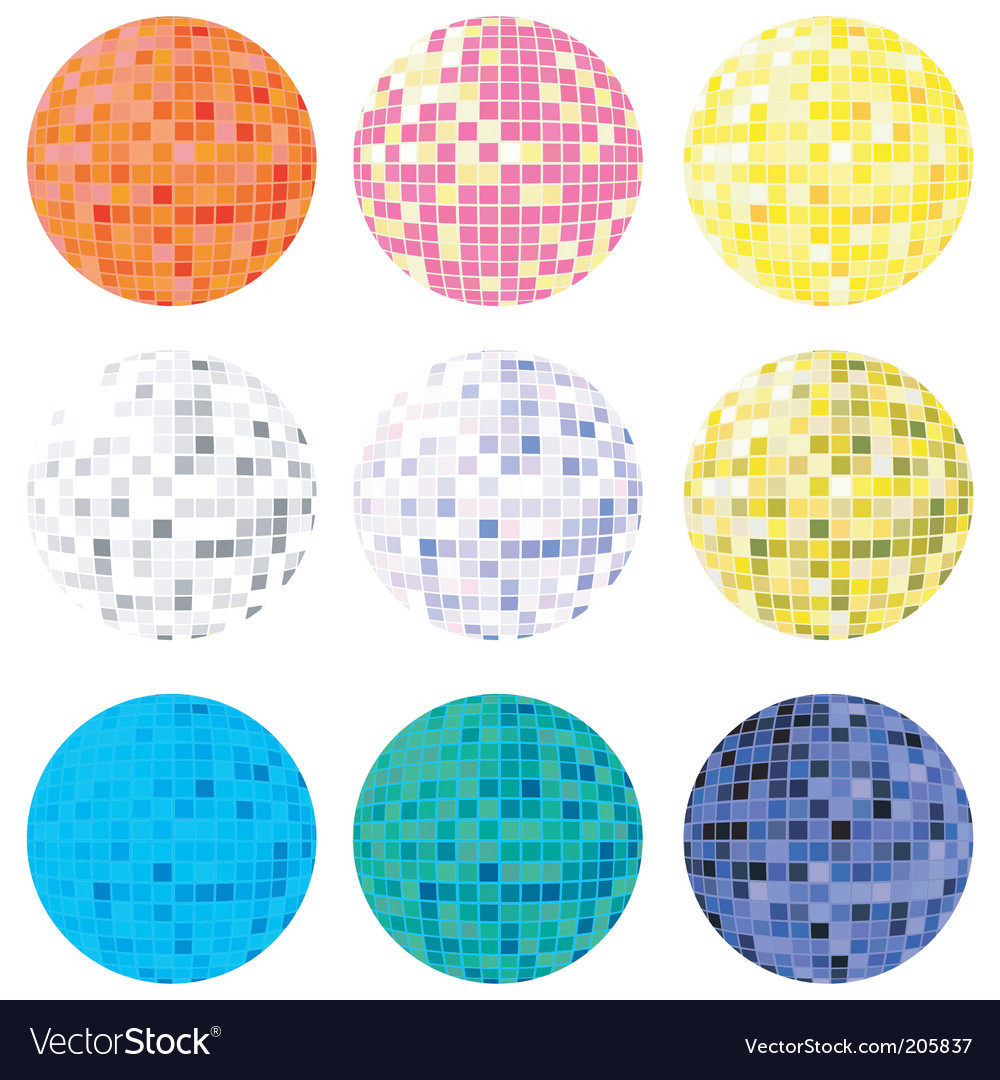 Disco globes vector | Price: 1 Credit (USD $1)