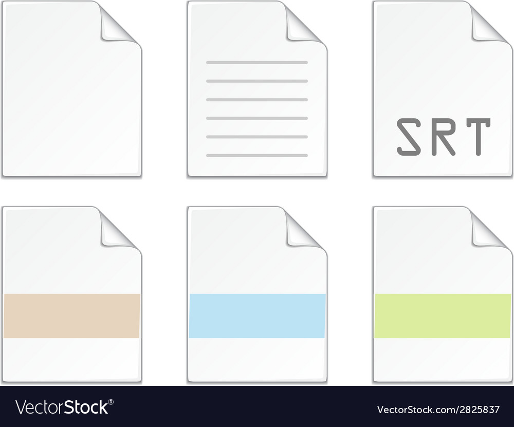 Document icon templates vector | Price: 1 Credit (USD $1)