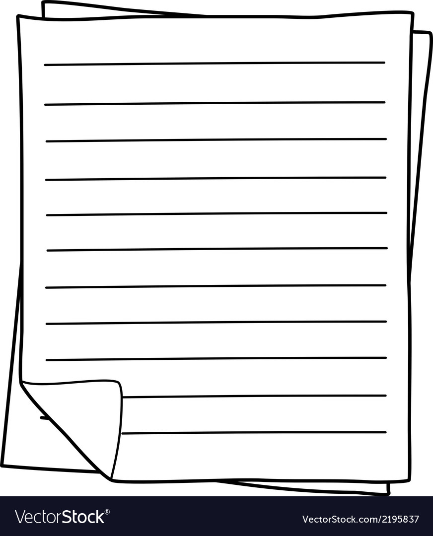 Notebook paper drawing vector | Price: 1 Credit (USD $1)