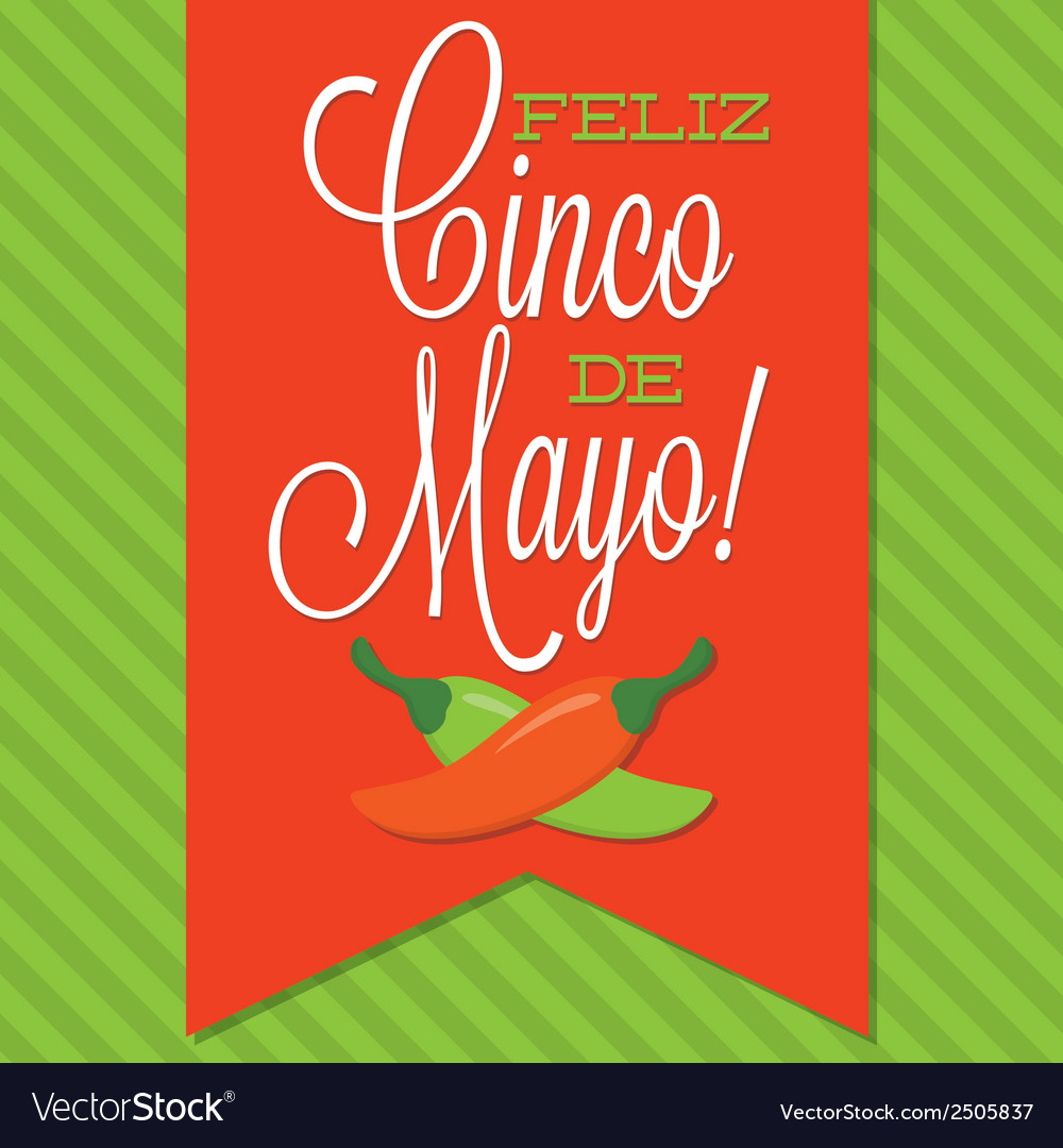 Retro style cinco de mayo happy 5th of may card in vector | Price: 1 Credit (USD $1)