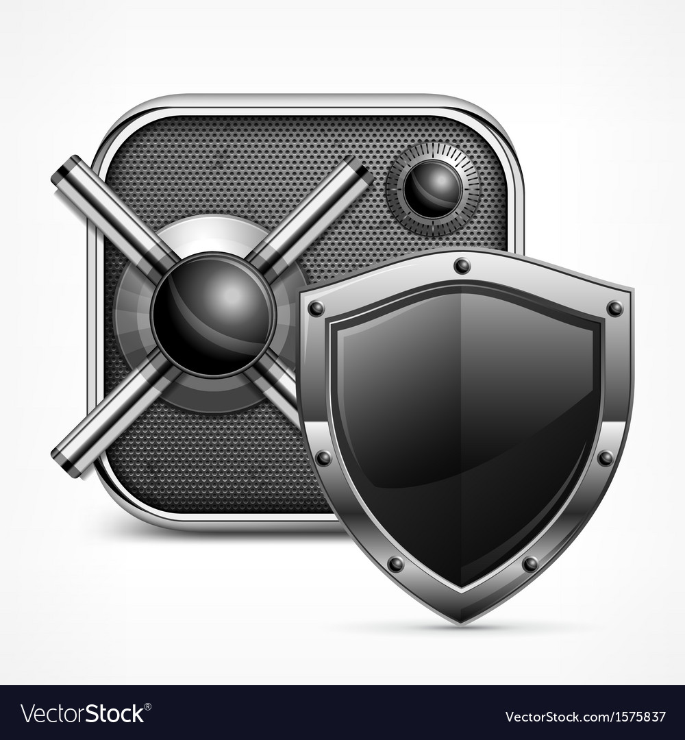 Safe icon shield vector