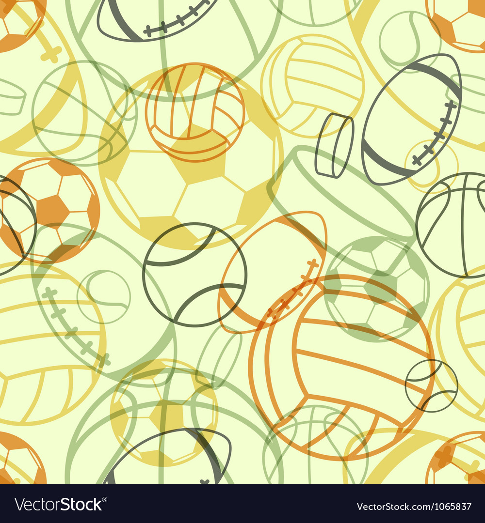 Sports seamless pattern vector | Price: 1 Credit (USD $1)