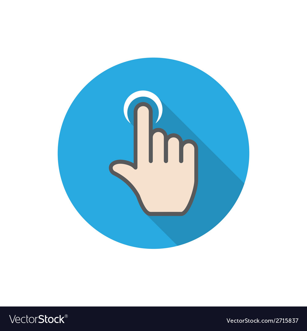 Touch hand vector | Price: 1 Credit (USD $1)