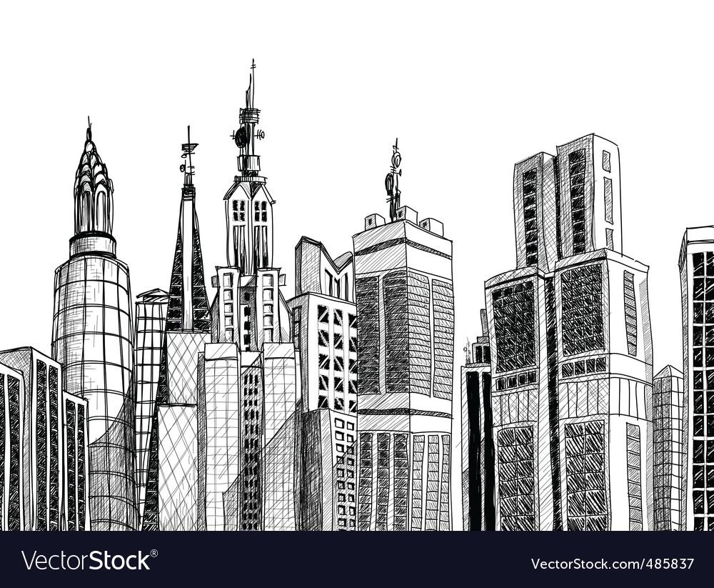 Urban architecture vector | Price: 1 Credit (USD $1)