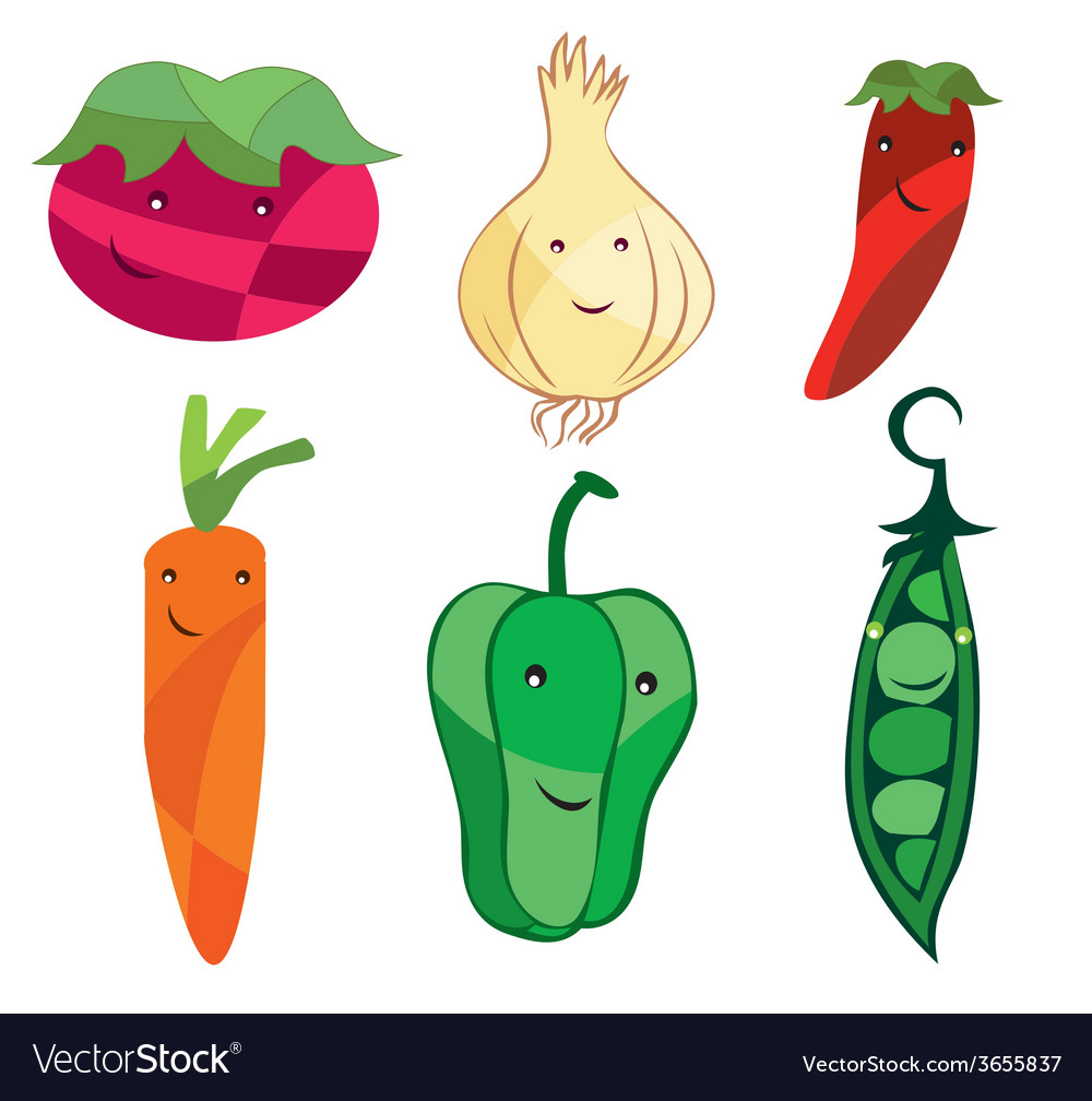 Vegetables-cartoon vector | Price: 1 Credit (USD $1)