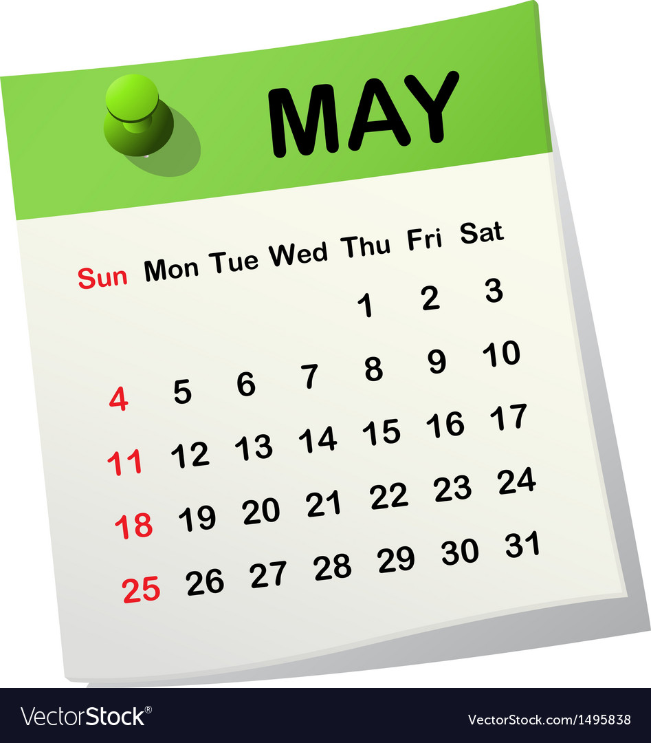 2014 calendar for may vector | Price: 1 Credit (USD $1)