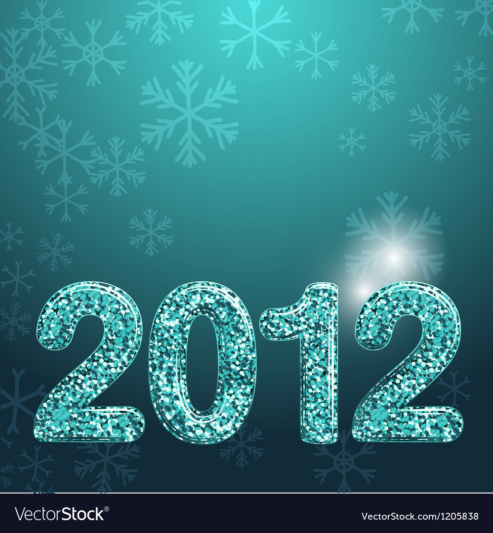 Banner for 2012 year made with blue glossy glitter vector | Price: 1 Credit (USD $1)