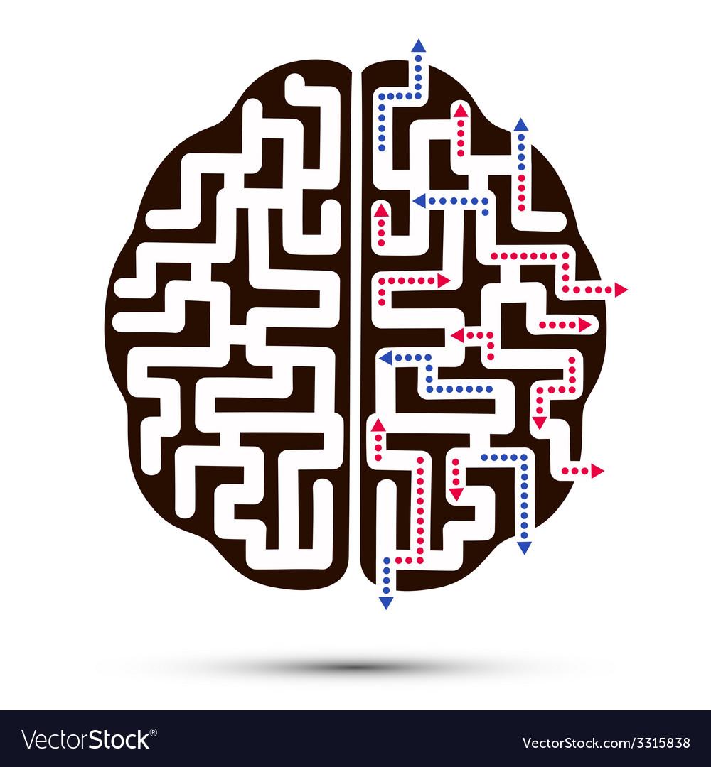 Creative brain vector   Price: 1 Credit (USD $1)
