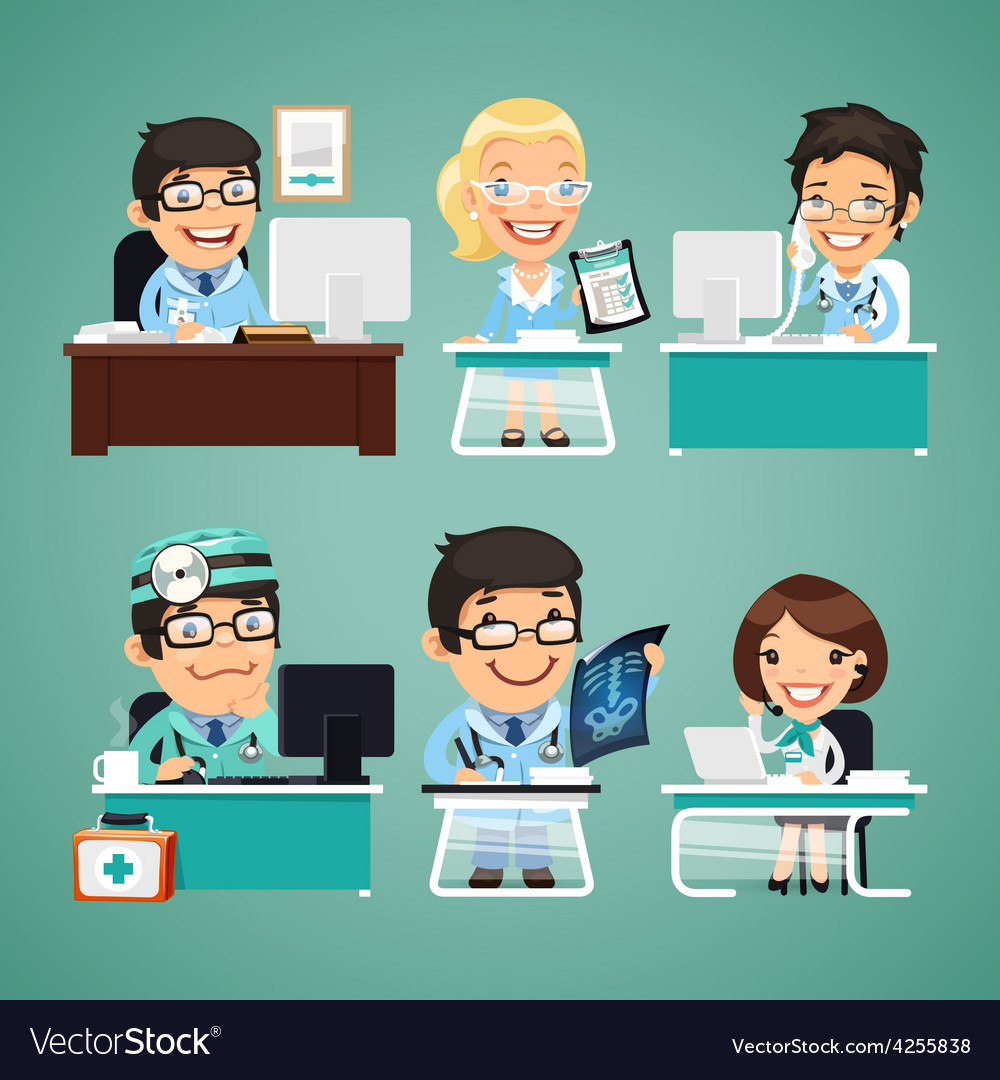 Doctors at the table vector | Price: 1 Credit (USD $1)