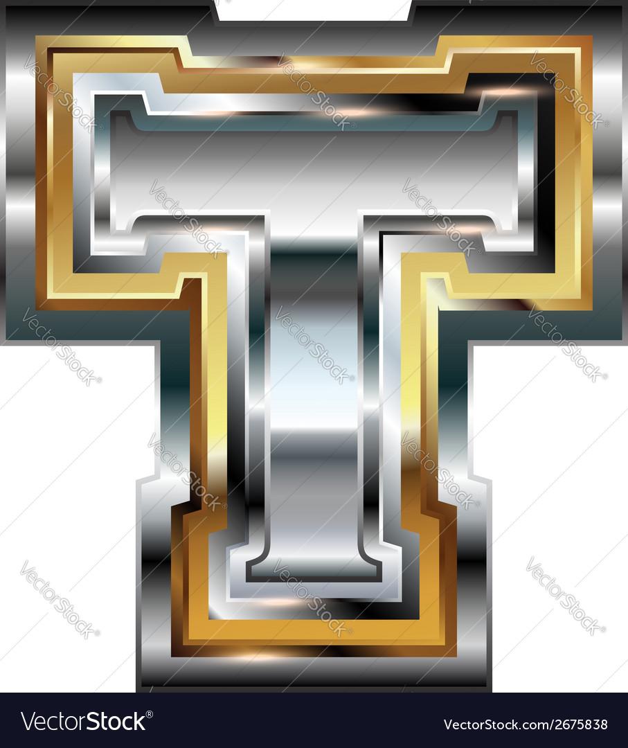 Fancy font letter t vector | Price: 1 Credit (USD $1)