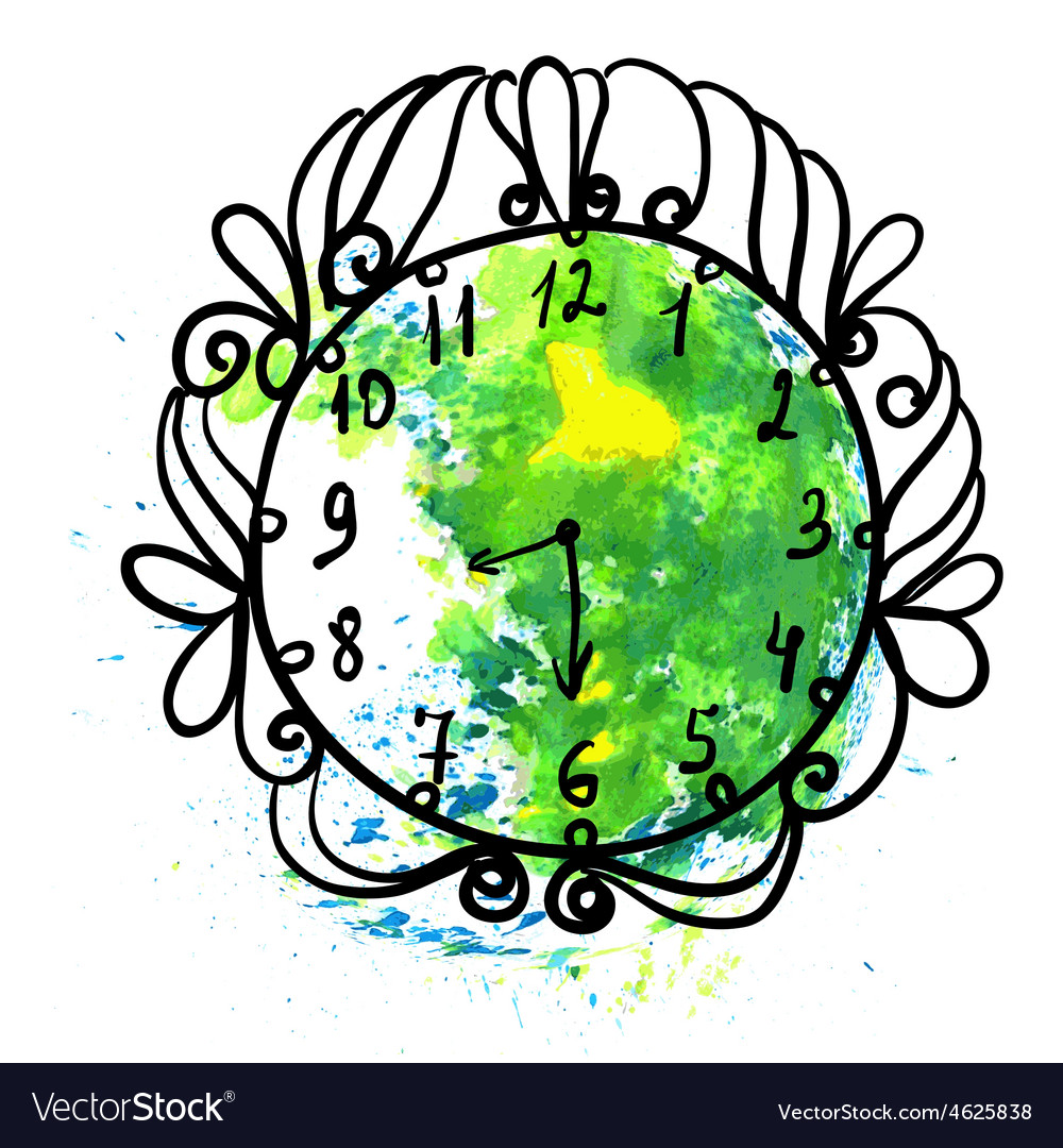 For earth hour annual international event vector | Price: 1 Credit (USD $1)
