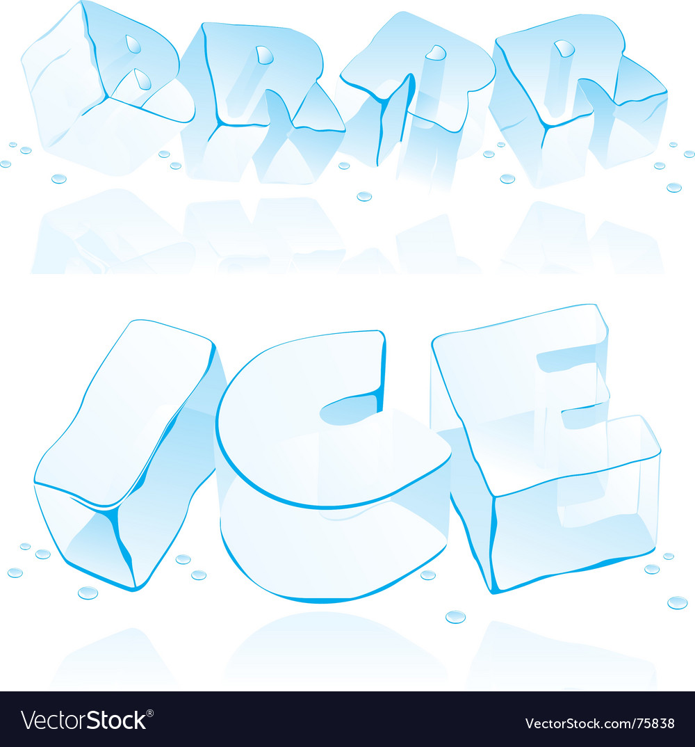 Ice cube letters vector | Price: 3 Credit (USD $3)