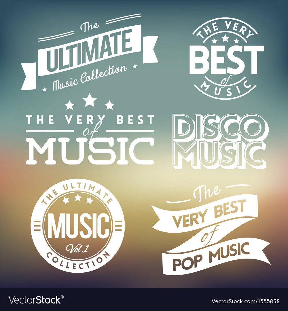 Music labels vector | Price: 1 Credit (USD $1)