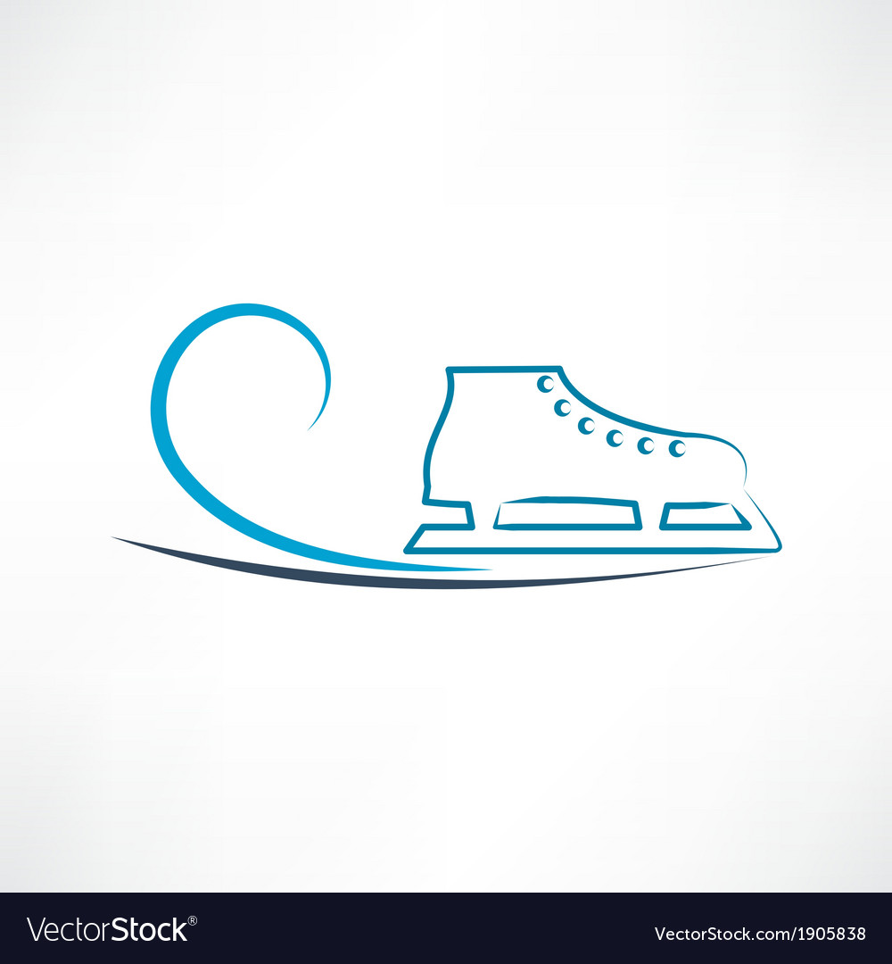 One skate vector | Price: 1 Credit (USD $1)