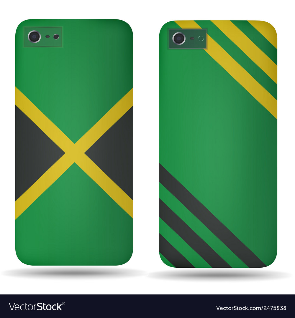 Rear covers smartphone with flags of jamaica vector | Price: 1 Credit (USD $1)