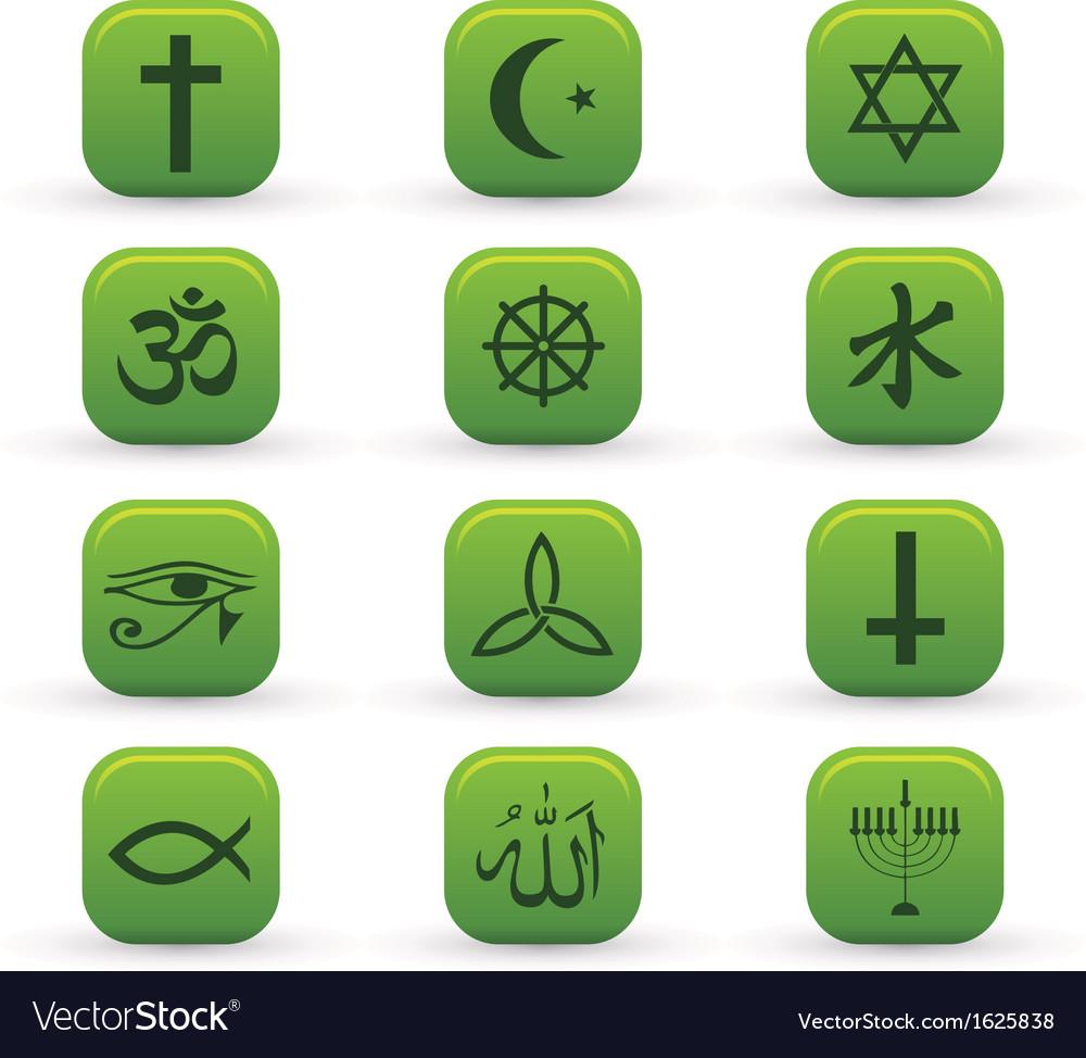 Religion signs vector | Price: 1 Credit (USD $1)