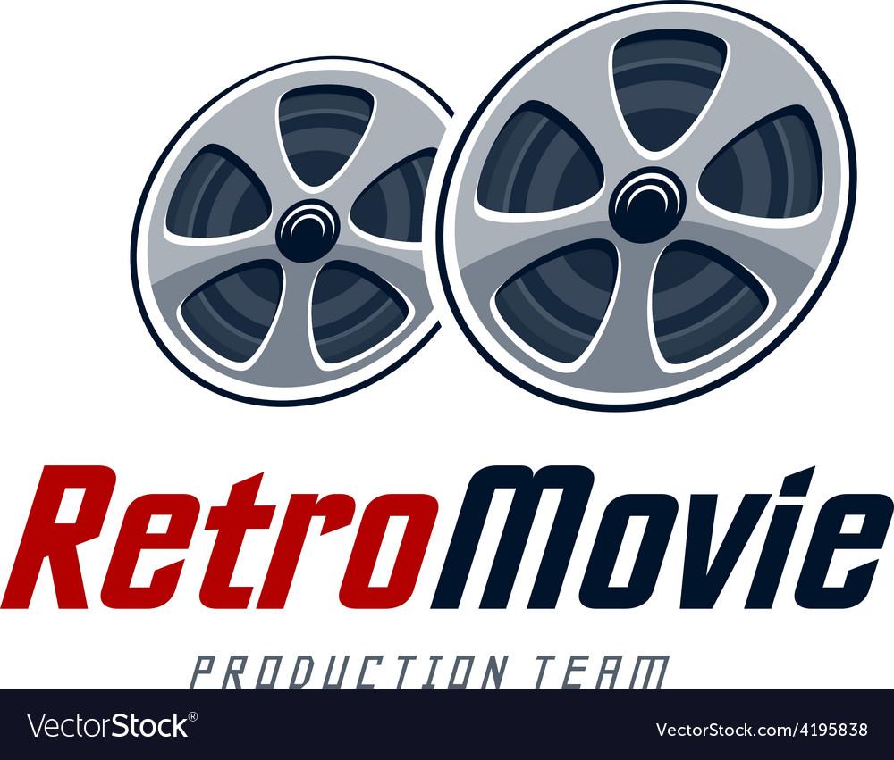 Retro movie logo vector | Price: 1 Credit (USD $1)