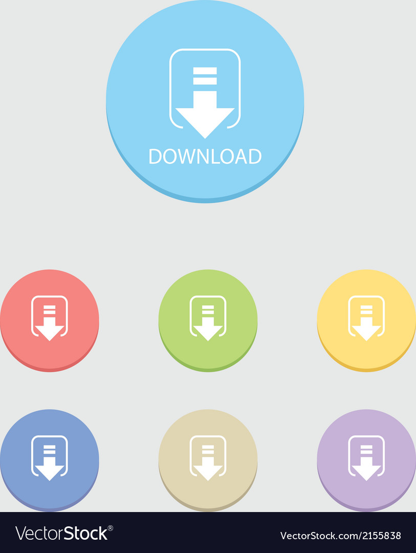Round download button vector | Price: 1 Credit (USD $1)