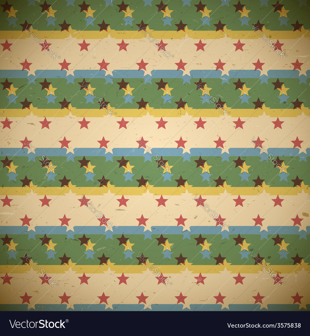 Seamless pattern with shifted stars vector | Price: 1 Credit (USD $1)