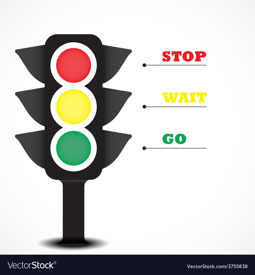 Traffic light symbol vector | Price: 1 Credit (USD $1)
