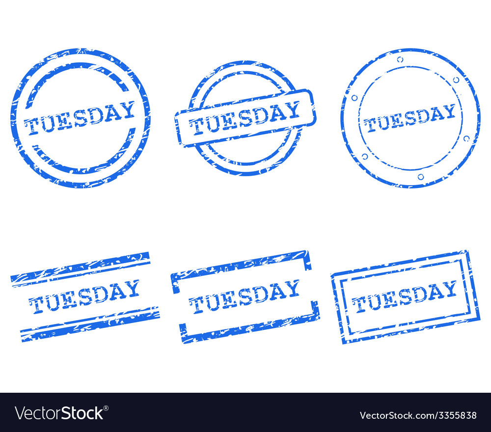 Tuesday stamps vector | Price: 1 Credit (USD $1)